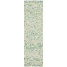 Ikat Ivory/Blue Area Rug