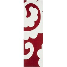 Modern Art Red / Ivory Original Rug