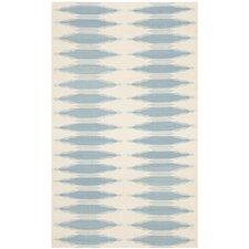 Navajo Kilim Ivory/Blue Area Rug
