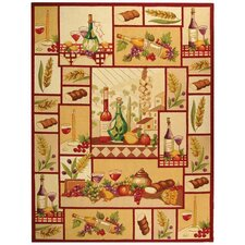 Chelsea Wine and Fruit Novelty Area Rug