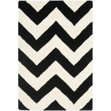Chatham Ivory & Black Chevron Rug