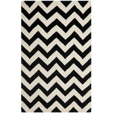 Chatham Chevron Ivory & Black Area Rug