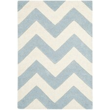 Chatham Blue/Ivory Chevron Rug