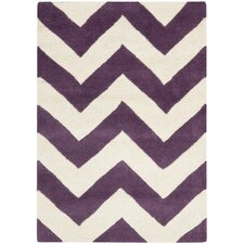 Chatham Purple / Ivory Chevron Area Rug