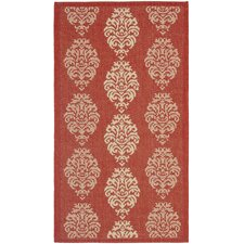 <strong>Safavieh</strong> Courtyard Red/Natural Rug