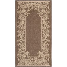 <strong>Safavieh</strong> Courtyard Chocolate/Natural Rug