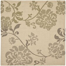 Courtyard Natural Brown / Olive Outdoor Rug