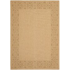 Courtyard Natural/Gold Floral Indoor/Outdoor Rug
