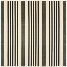 Courtyard Black/Bone Area Rug