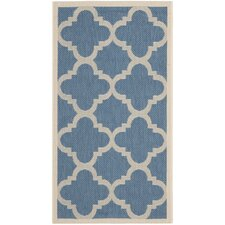 Courtyard Lattice Blue Rug