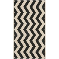 Courtyard Black/Beige Indoor/Outdoor Rug