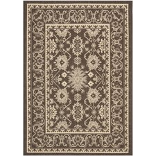 <strong>Safavieh</strong> Courtyard Chocolate/Cream Rug
