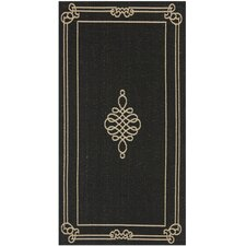 <strong>Safavieh</strong> Courtyard Black/Creme Rug
