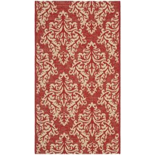 <strong>Safavieh</strong> Courtyard Red/Creme Rug