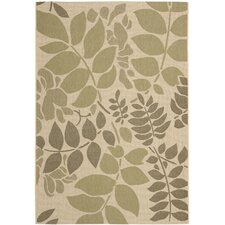 Courtyard Cream/Green Indoor/Outdoor Rug