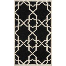 Dhurries Black/Ivory Area Rug