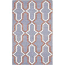 Dhurries Purple/Tan Area Rug