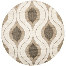 Florida Shag Cream/Smoke Area Rug