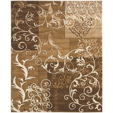 Timeless Fashion Dark Beige/Ivory Rug