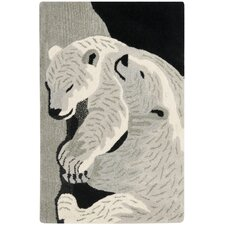 Wilderness Black/Grey Novelty Rug