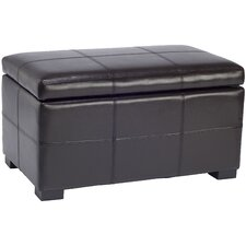 Madison Leather Storage Ottoman
