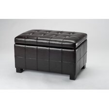 <strong>Safavieh</strong> Small Maiden Leather Ottoman