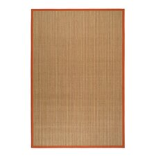 Natural Fiber Red Border Rug