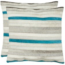 <strong>Safavieh</strong> Quinn Feather / Down Decorative Pillow (Set of 2)
