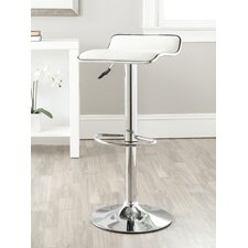 "<strong>Safavieh</strong> Chaunda 22.4"" Adjustable Swivel Bar Stool with Cushion"