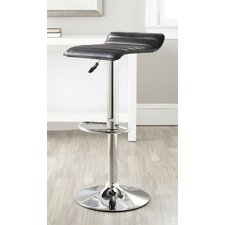 "<strong>Safavieh</strong> Kemonti 22.4"" Adjustable Swivel Bar Stool with Cushion"
