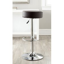 "Jude 25.6"" Adjustable Swivel Bar Stool with Cushion"