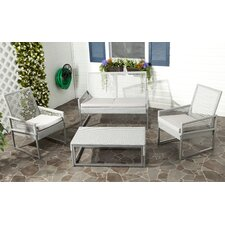 Shawmont 4 Piece Seating Group with Grey Cushions