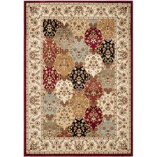 Majesty Red / Creme Traditional Rug