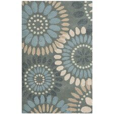Jardin Grey / Blue Floral Area Rug