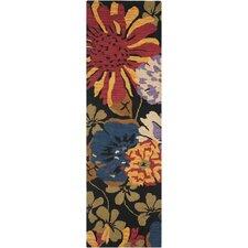 Jardin Black/Multi Floral Rug