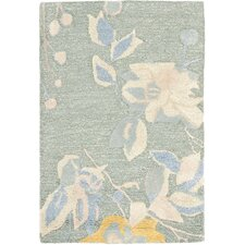 Jardin Silver / Blue Floral Rug