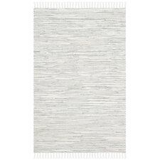 Montauk Silver Abstract Outdoor Area Rug