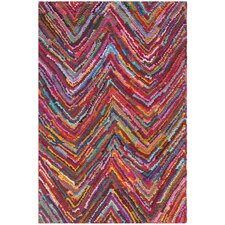 Nantucket Pink Abstract Rug