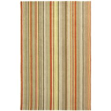 Newport Red Striped Area Rug
