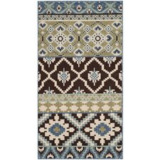 <strong>Safavieh</strong> Veranda Chocolate / Blue Rug