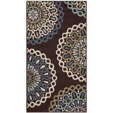Veranda Chocolate / Blue Rug