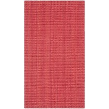 Natural Fiber Red Sisal Rug