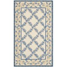 Wilton Ivory / Blue Rug