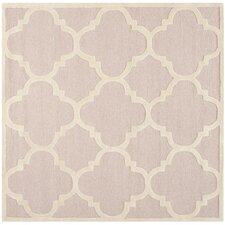 Cambridge Trellis Light Pink & Ivory Area Rug
