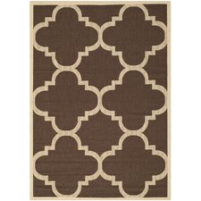 Courtyard Dark Brown Rug