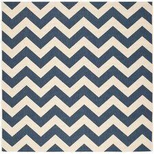 Courtyard Navy & Beige Outdoor/Indoor Area Rug I