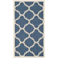 Courtyard Navy & Beige Outdoor Area Rug