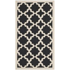 Courtyard Black / Beige Rug