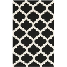 Dhurries Black / Ivory Rug