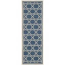 Courtyard Justina Navy/Beige Outdoor Area Rug